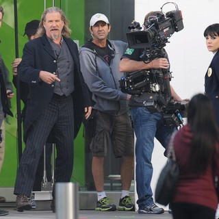 Ryan Reynolds, Jeff Bridges, Mary-Louise Parker in Filming Scenes for The Movie R.I.P.D.