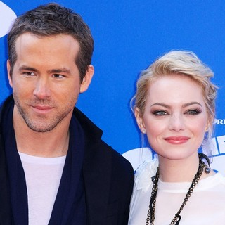Ryan Reynolds, Emma Stone in The Croods Premiere - Arrivals