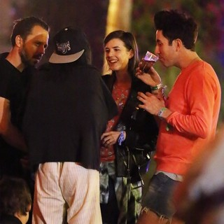 Giovanni Ribisi, Agyness Deyn, Nick Grimshaw in The 2013 Coachella Valley Music and Arts Festival - Week 1 Day 2