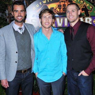 Matthew Lenahan, Judson Birza, Chase Rice in The Survivor: Nicaragua Finale - Arrivals