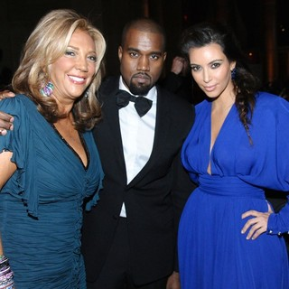 Denise Rich, Kanye West, Kim Kardashian in The Angel Ball 2012