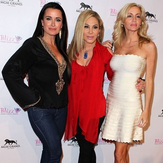 Kyle Richards, Adrienne Maloof, Camille Grammer in The Grand Opening of Blizz Frozen Yogurt