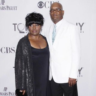 LaTanya Richardson, Samuel L. Jackson in The 65th Annual Tony Awards - Arrivals