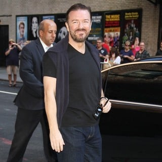 Ricky Gervais in Ricky Gervais at The Late Show with David Letterman