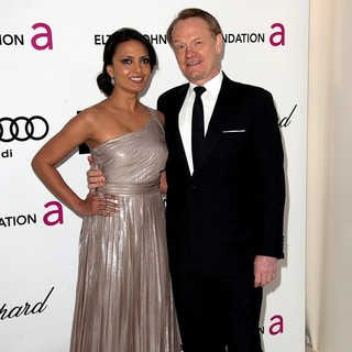 Allegra Riggio, Jared Harris in The 20th Annual Elton John AIDS Foundation's Oscar Viewing Party - Arrivals