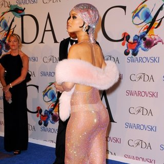 Rihanna in 2014 CFDA Fashion Awards - Red Carpet Arrivals