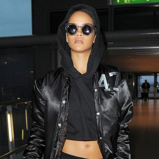 Rihanna in Rihanna Arriving at Heathrow Airport to Catch A Flight After Taking Part in A Photo Shoot