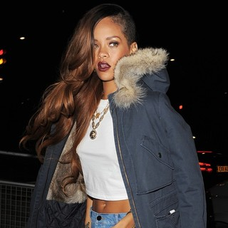 Rihanna in Rihanna Arriving Back at Her Hotel Following A Late Night Out