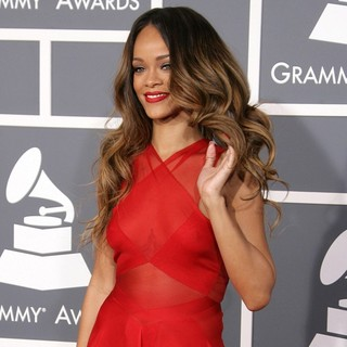 Rihanna in 55th Annual GRAMMY Awards - Arrivals