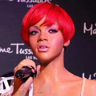 Rihanna in Las Vegas Unveils A Wax Figure of Rihanna