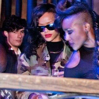 Rihanna in Rihanna and Chris Brown Partying Together Around 1AM