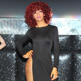 Rihanna in Madame Tussauds London Unveiling Wax Figure of Rihanna