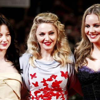 Andrea Riseborough, Madonna, Abbie Cornish in The 68th Venice Film Festival - Day 2 - W.E. - Red Carpet