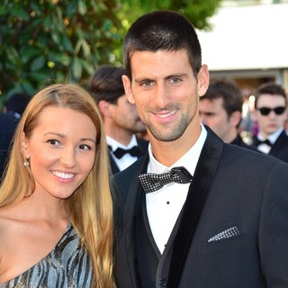 Jelena Ristic, Novak Djokovic in Killing Them Softly Premiere - During The 65th Cannes Film Festival