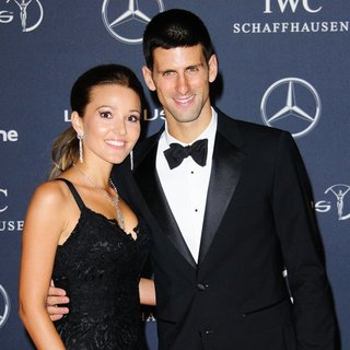 Jelena Ristic, Novak Djokovic in Laureus Sport Awards - Arrivals