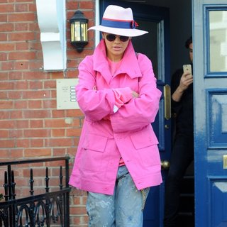 Rita Ora Leaves Her House