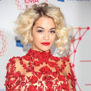 Rita Ora in The MTV EMA's 2012 - Arrivals