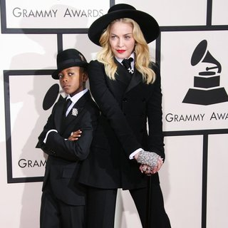 David Banda Mwale Ciccone Ritchie, Madonna in The 56th Annual GRAMMY Awards - Arrivals