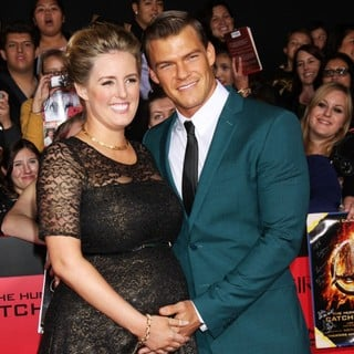 Catherine Ritchson, Alan Ritchson in The Hunger Games: Catching Fire Premiere