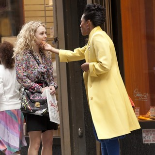 AnnaSophia Robb, Freema Agyeman in AnnaSophia Robb and Freema Agyeman on The Set of The Carrie Diaries