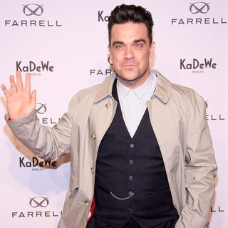 Robbie Williams in The Launch of New Fashion Label Farrell by Robbie Williams