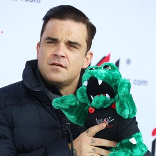 Robbie Williams in A Press Conference Ahead of Top of The Mountain Concert