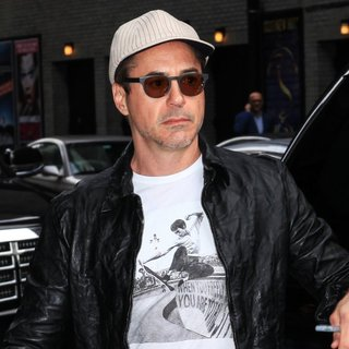 Robert Downey Jr. - Celebrity Arrive for The Late Show with David Letterman