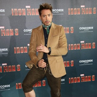 Robert Downey Jr. in Iron Man 3 Photocall