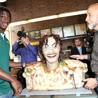Robert Griffin III in Unveils A New Lifesize Smokehouse BBQ Chicken