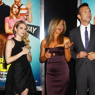 Emma Roberts, Jennifer Aniston, Jason Sudeikis in We're the Millers World Premiere