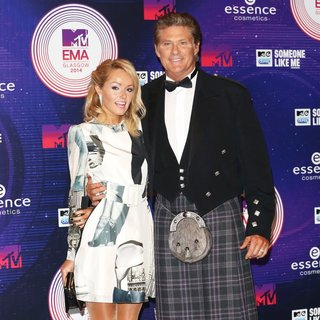 Hayley Roberts, David Hasselhoff in MTV Europe Music Awards 2014 - Arrivals