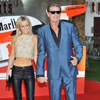 Hayley Roberts, David Hasselhoff in World Premiere of Rush - Arrivals