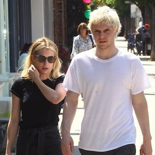Emma Roberts, Evan Peters in Emma Roberts and Evan Peters Spotted Together in The Studio City Neighborhood