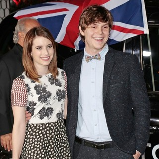 Emma Roberts, Evan Peters in Topshop Topman LA Opening Party - Arrivals