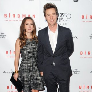 Shauna Robertson, Edward Norton in 52nd New York Film Festival - Birdman - World Premiere