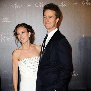 Shauna Robertson, Edward Norton in Opening Night Dinner - During The 65th Cannes Film Festival