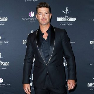 Robin Thicke at Barbershop Cuts and Cocktails
