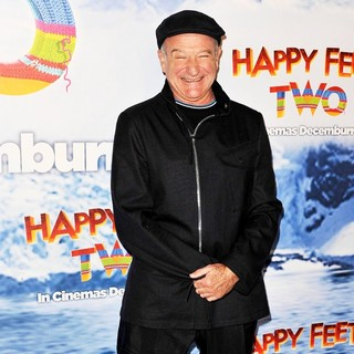Robin Williams in Happy Feet 2 Australian Premiere