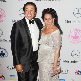 Smokey Robinson, Frances Gladney in 26th Anniversary Carousel of Hope Ball - Presented by Mercedes-Benz - Arrivals