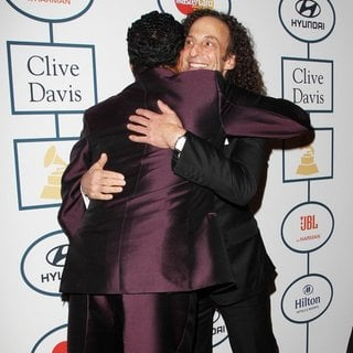 Smokey Robinson, Kenny G in 2014 Pre-Grammy Gala and Grammy Salute to Industry Icons - Clive Davis