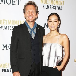 Sebastian Roche, Alicia Hannah in Moet and Chandon Celebrate The 2nd Annual Moet Moment Film Festival and Kick Off Golden Globes Week
