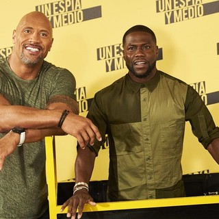The Rock, Kevin Hart in Central Intelligence Madrid Photocall