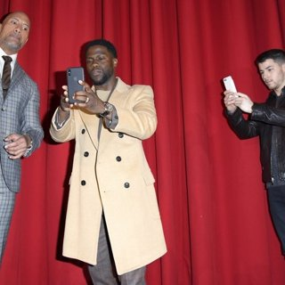 The Rock, Kevin Hart, Nick Jonas in German Premiere of The Movie Jumanji - Welcome to the Jungle