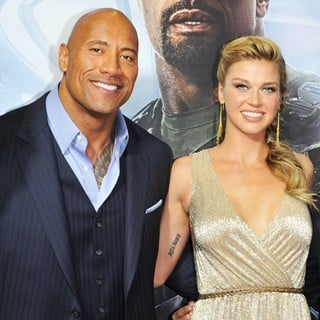 The Rock, Adrianne Palicki in G.I. Joe: Retaliation - Sydney Premiere