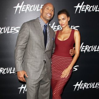 The Rock, Irina Shayk in Los Angeles Premiere of Hercules - Arrivals