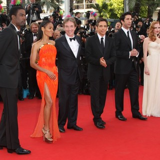 Chris Rock, Jada Pinkett Smith, Martin Short, Ben Stiller, David Schwimmer, Jessica Chastain in Madagascar 3: Europe's Most Wanted Premiere- During The 65th Cannes Film Festival