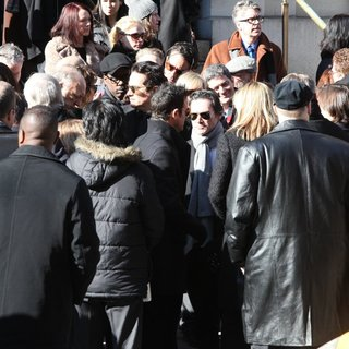 Chris Rock, Justin Theroux, Billy Crudup in The Funeral of Philip Seymour Hoffman