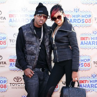 Rocko, Monica in BET Hip Hop Awards 2008 - Arrivals