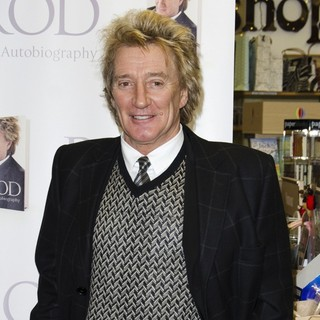 Rod Stewart Signs Copies of His Book Rod: The Autobiography