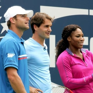 Andy Roddick in Arthur Ashe Kids Day 2012 - roddick-federer-williams-arthur-ashe-kids-day-2012-01